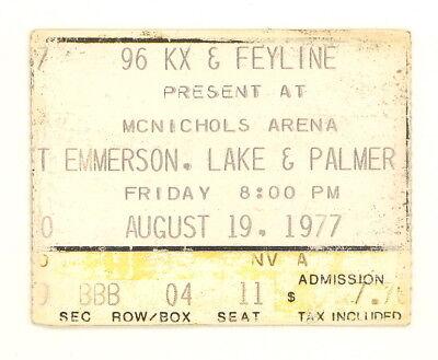 EMERSON LAKE & PALMER AUTHENTIC TICKET STUB McNICHOLS ARENA 8/19/1977 (508)