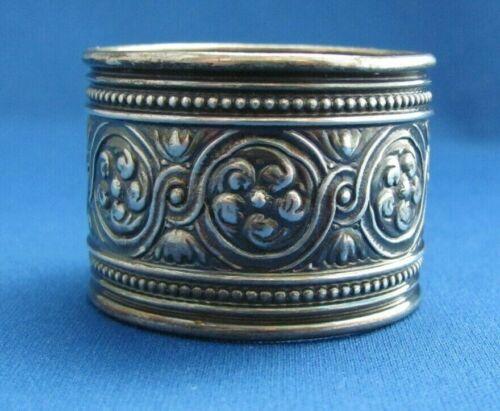 Antique Gorham Sterling Silver Napkin Ring Monogramed 1888