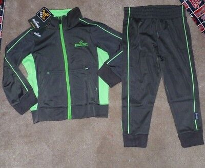NEW SPALDING 2PC Piece Track Coat Jacket with Pants Boys Warmup 2T Toddler NWT ()