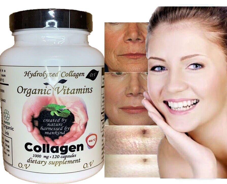 COLLAGEN Colageno ALFA Hydrolysate with Vitamin C ANTIANGING Colageno 120 organi