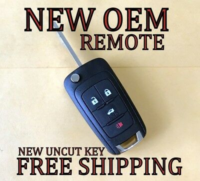 NEW OEM GM CHEVY CRUZ EQUINOX IMPALA CAMARO SONIC FLIP KEY KEYLESS REMOTE FOB