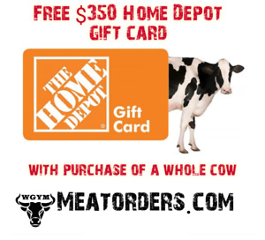 Meat Order - Free Home Depot Gift Card