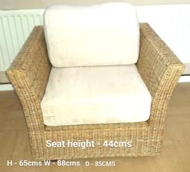 Large wicker armchair