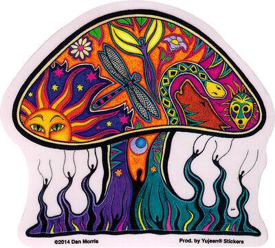 Dan Morris Mushroom - Window Art Sticker / Decal