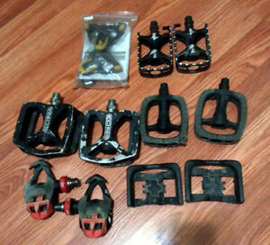 Assorted bike pedals