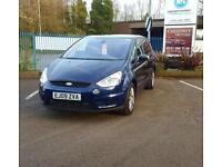 Ford S-MAX 2009 1.8TDCi Diesel 7 seat MPV In Blue