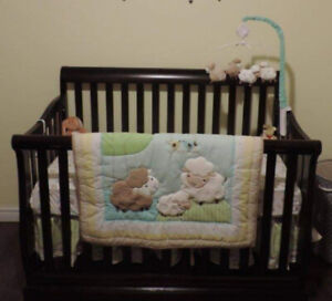 Gender neutral crib bedding and decor