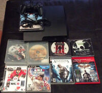 Playstation 3, 320gb with controller and 8 Games!!