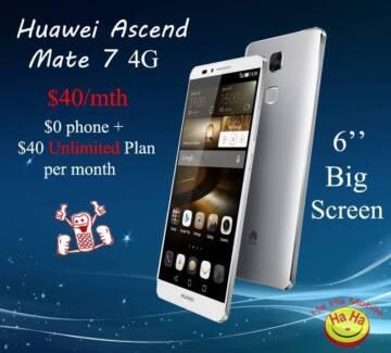 Brand New Unlocked Huawei Ascend Mate7 White Australian Stock Auburn Auburn Area Preview