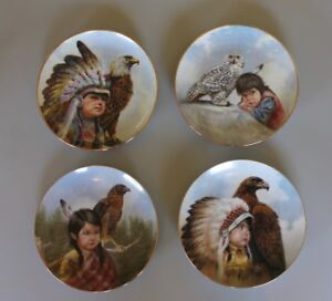 Set of 4 Collector Plates - Numbered