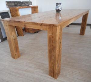 Table en bois de grange La Hemlock