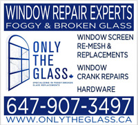 WINDOW REPAIRS; FOGGY/BROKEN GLASS-CRANK-HINGE- SAVE $ TODAY