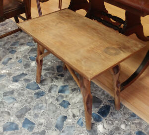 82 Year-Old Folk Art Hand-Made All-Wood Table