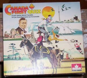 Petro Canada Canada First Quiz Game 1984 collectible mint new