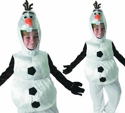 Olaf Frozen Kids Costume Fancy Dress Disney Snowman Boys Girls Child (Frozen Kostüm Boy)