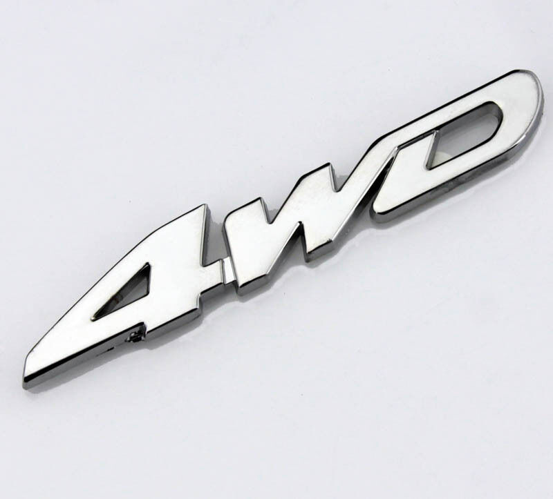 Car Performance Metal Badge Decals Fenders Emblem Stickers For Chrome 4WD