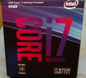 Intel Core i7-8700K Desktop Processor 6 Cores up to 3.7GHz Turbo