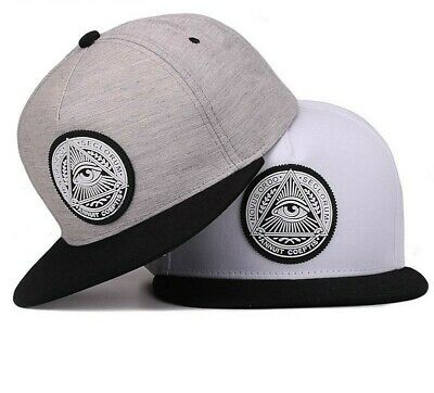 Snapback 3D God Eyes Plastic Patch Mens Flat Brim Baseball Cap Hip Hop Hat Gift (Flat Eye Patch)