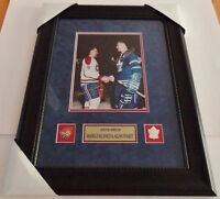 M Richard Canadiens A Stanley Maple Leafs Signed Photo Auto COA
