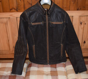 Danier - Leather Jacket - Biker - Moto - Anorak cuir - NEW