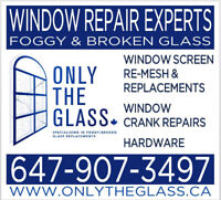 BEST PRICES- Glass Replacements for Foggy/Broken Windows&Doors
