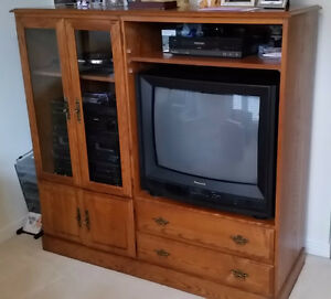 Oak Entertainment Unit