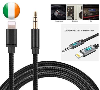 8 Pines A 3.5mm Aux Audio Cable Coche Adaptador Para IPHONE 11...
