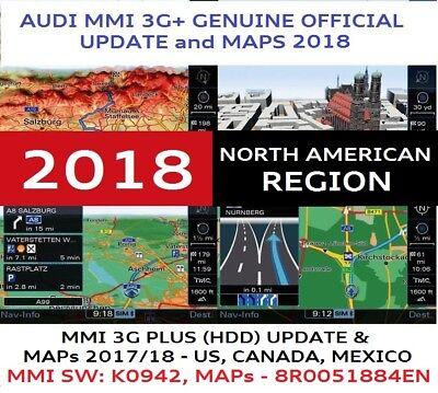 AUDI Q7, Q5, A4, A5 USA MMI 3GP, MMI 3G+, MMI 3G (HDD),UPDATE 2018, 8R0060884EN
