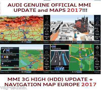 AUDI A4 A5 A6 MMI 3G UPDATE SET 2017  MAPs MMI 3G HIGH HDD 8R0060884ED