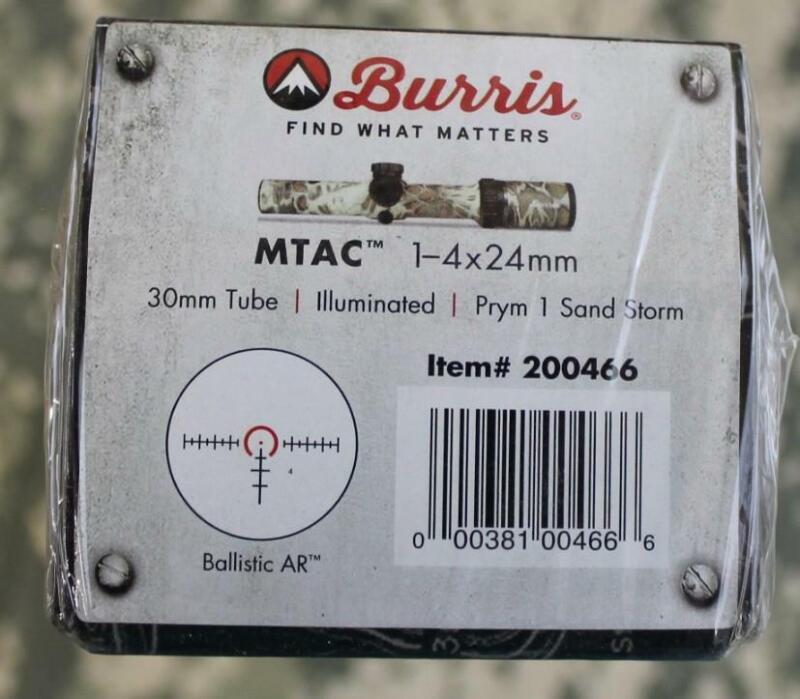 Burris 200466 MTAC 1-4x24mm Illuminated 30mm Tube Sand Storm Ballistic AR - NEW!