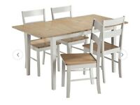 Chicago Solid Wood Extending Table & 4 Chairs RRP £240 now £120 brand new in box