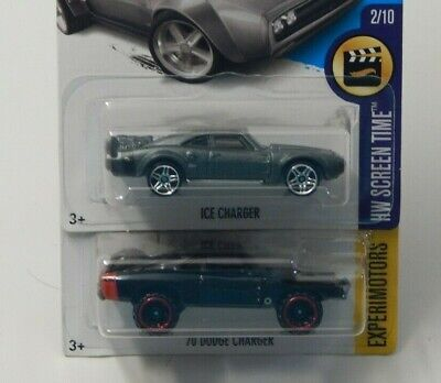 Hot Wheels Screen Time '70 Dodge Charger & Ice Charger Fast & Furious