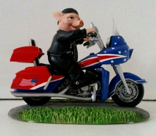 "New In Box~""ONE SWINE RIDE"" ~Road Hogs Collection ~Harley  Figurine W/ COA"