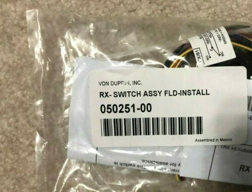VON DUPRIN 050251-00 RX-Switch Assy FLD Install