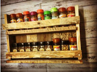 Rustic Handmade Spice Rack - Pallet Furniture