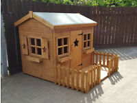 7X6 WOODEN PLAYHOUSE TOP QUALITY