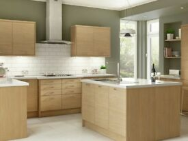 7 Piece Kitchen Units - Modern Light Oak - BRAND NEW