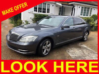 MERCEDES S-class 350 CDI BlueEfficiency 2010 high spec no faults all works
