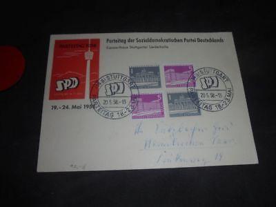 SPD Parteitag 1958 - signiert - Autograph - Autogramme - Stuttgart