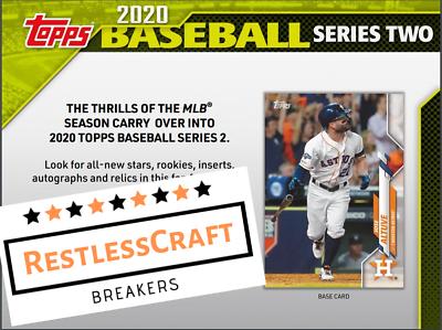 Texas Rangers 2020 Topps Series 2 Hobby Half Case 6 Box Live Break 6 - $13.95