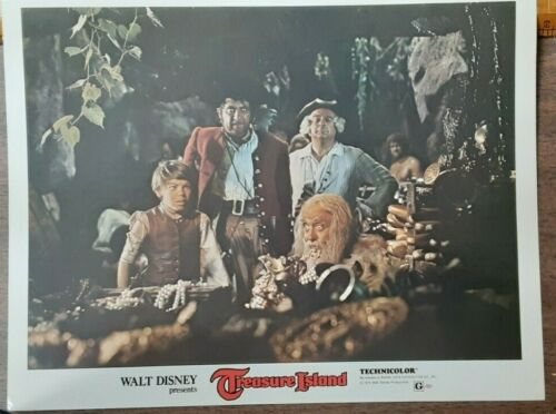 "DISNEY LOBBY CARD ""TREASURE ISLAND"" 1975"