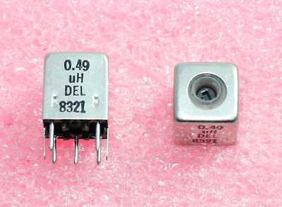 0.49h Shielded Variable Inductor - Lot Of 3 92p098