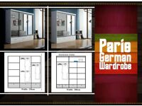 Guaranteed Quality🚚Brand New Exclusive Paris German Mirror Sliding Wardrobe at Affordable Low Price
