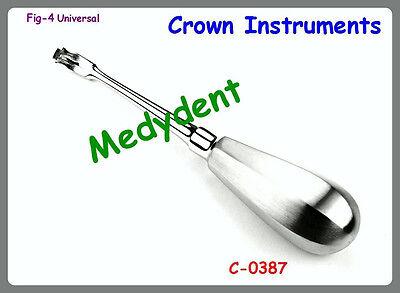 Offset Crown Splitter Remover Elevator Fig - 4 Dental Instruments C-0387