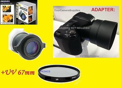 Raynox Dcr-150 Macro Close-up Lens +uv+ Adapter For Nikon...