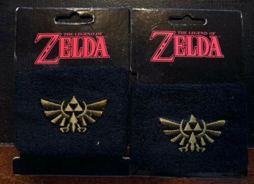 Legend of Zelda Loot Crate Wristband Black Triforce Sweatban