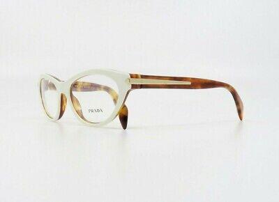 Prada Women's Vintage Shiny White/Tortoise Glasses w/ Case VPR 18P NAX-1O1 (Prescription Eyeglass)