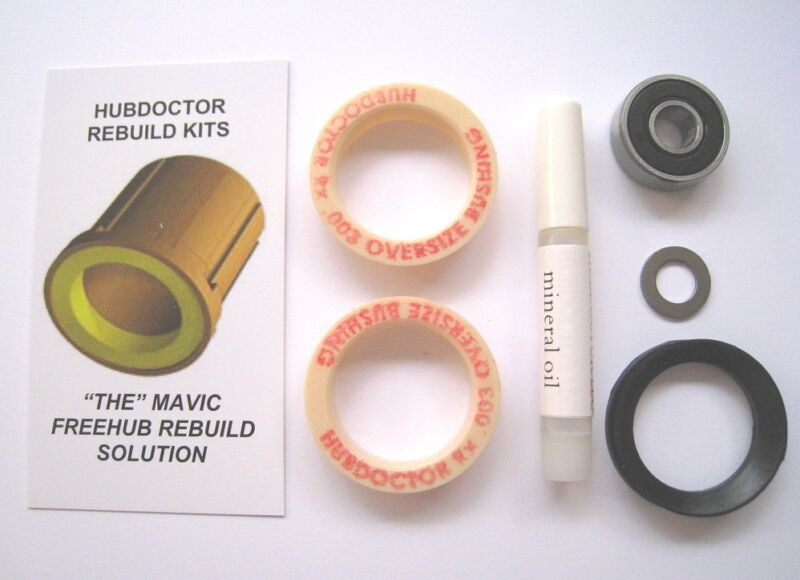 """HUBDOCTOR """"SUPER""""  REPLACEMENT BUSHINGS MAVIC FREEHUBS .000 AND .003 OVERSIZED"""