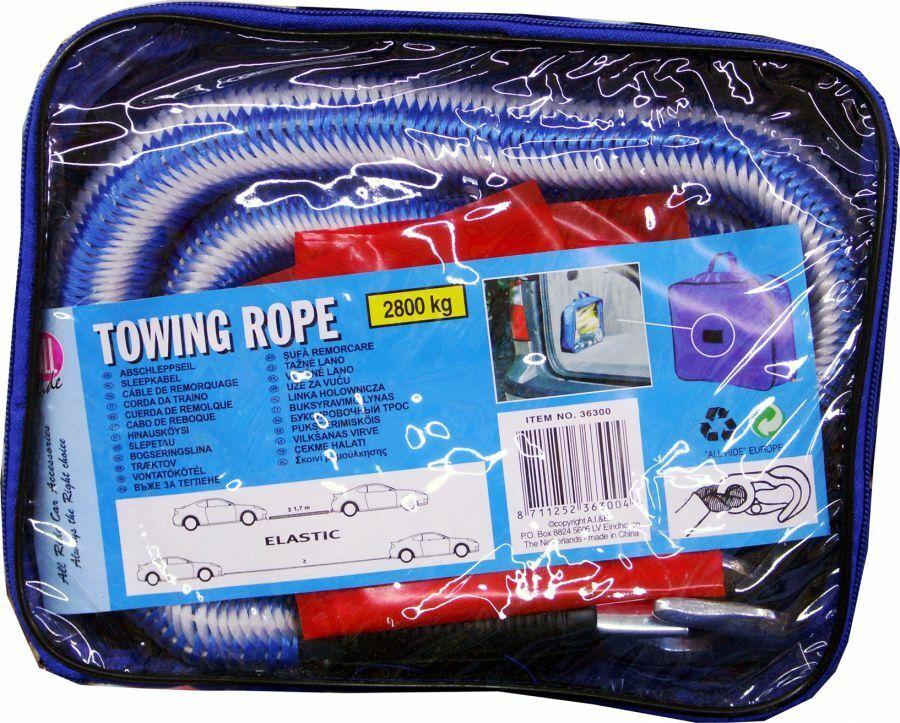 Abschleppseil elastisch 2800kg Abschlepphilfe Zugband Seil Abschlepp