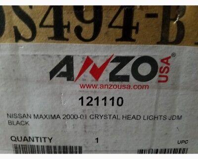(Anzo USA 121110 Crystal Headlight Set Fits 00-01 Nissan Maxima)
